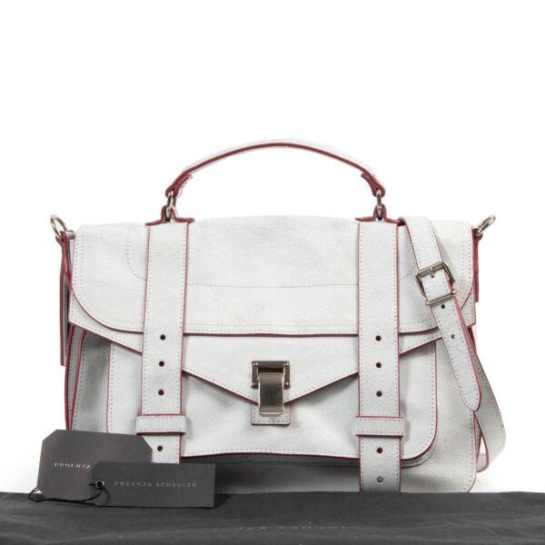 Proenza Schouler White Crackle Medium PS1 Shoulder Bag