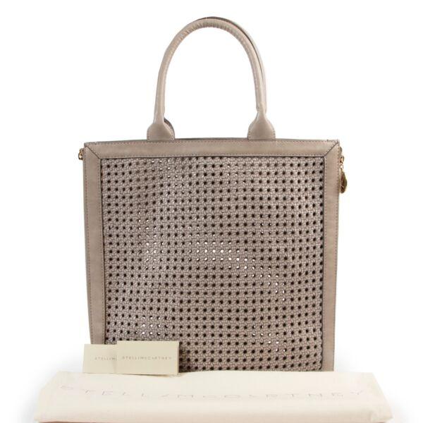 Stella McCartney Grey Woven Top Handle Bag