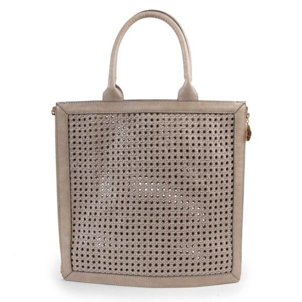 Shop safe online authentic Stella McCartney Grey Top Handle Bag at Labellov.com