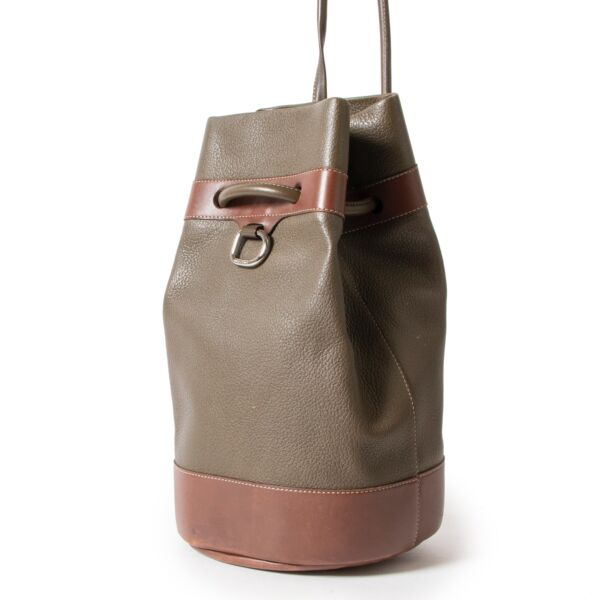 Delvaux Green Bucket Bag
