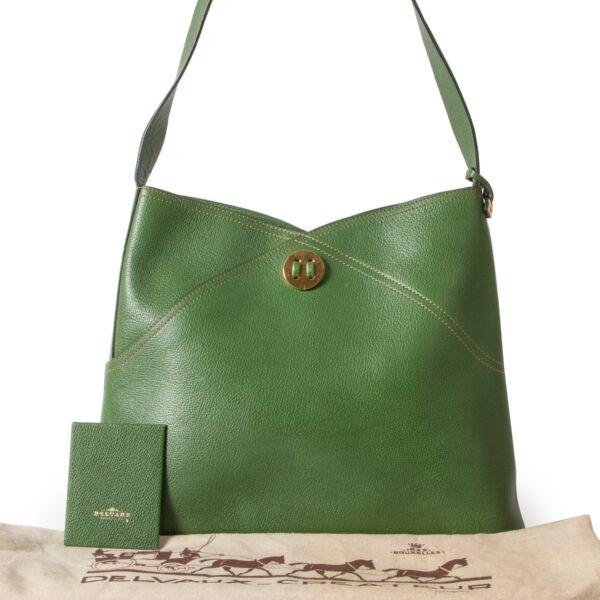 Delvaux Green Shoulder Bag