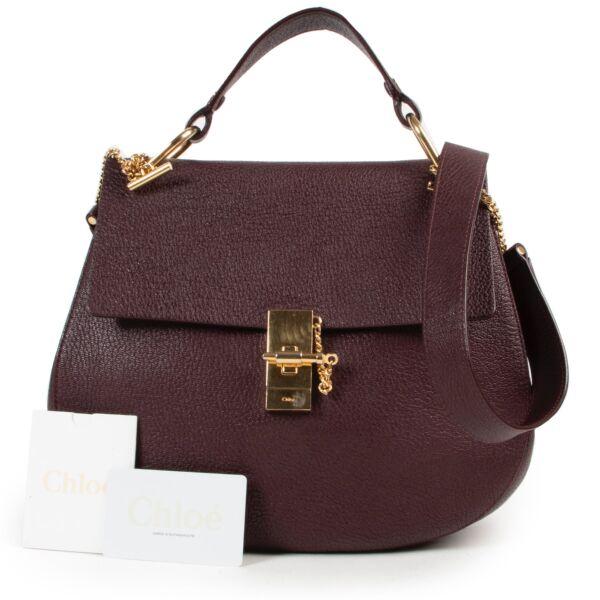 Chloé Burgundy Drew Bag