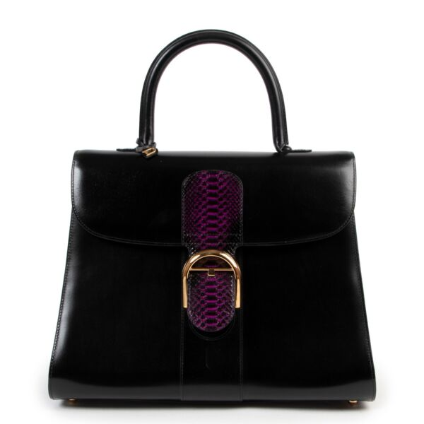 Exotic limited edition Delvaux Brillant Purple Python GM for sale at Labellov secondhand luxury in Antwerp.