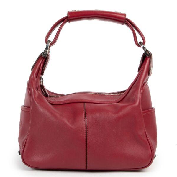 Tods Burgundy Top Handle Bag