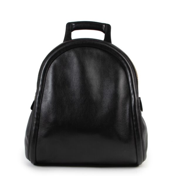 Shop safe online authentic Delvaux Black Leather Backpack at Labellov.com.