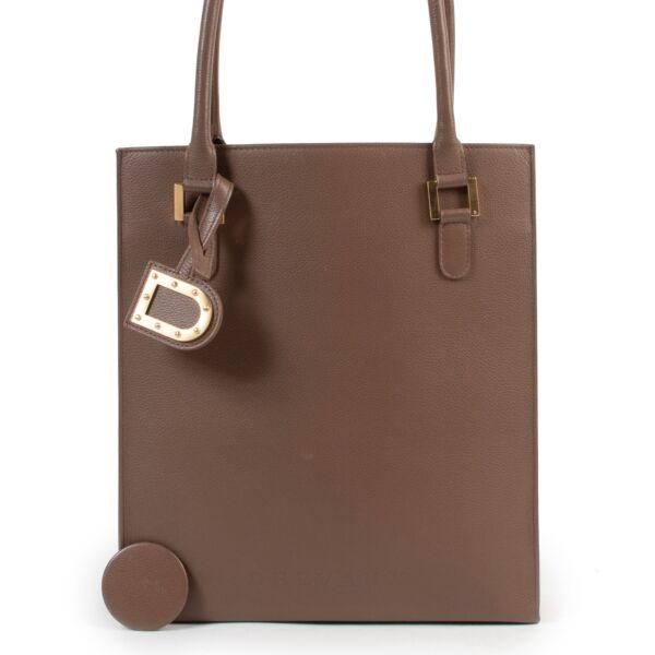 Delvaux Taupe Le Jeff Shoulder Bag