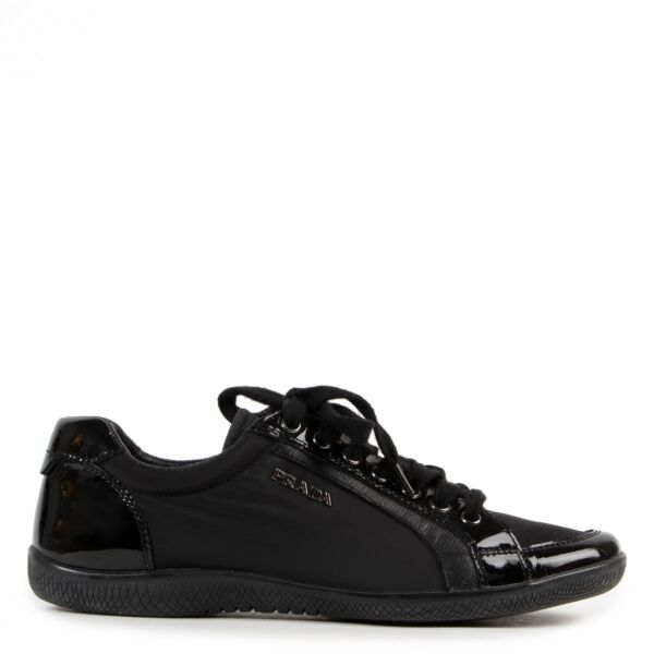 Prada Nylon Saffiano Black Trainer - size 38