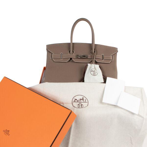 Hermès Birkin 35 Etoupe Togo Doublure Chevre PHW