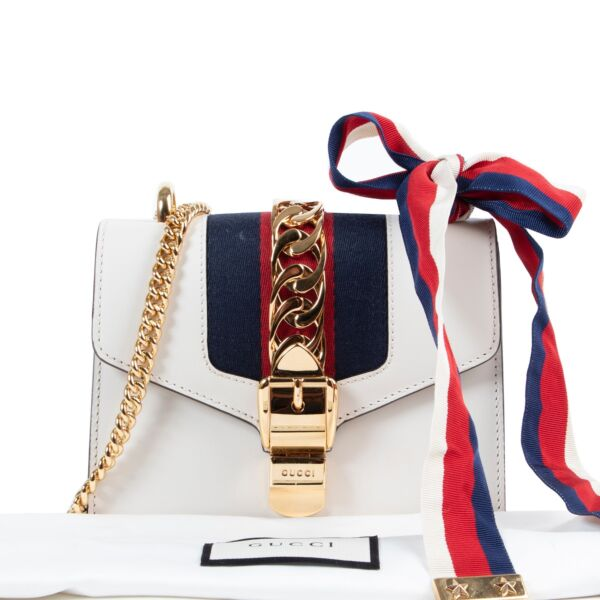 Gucci White Sylvie Mini Crossbody Bag