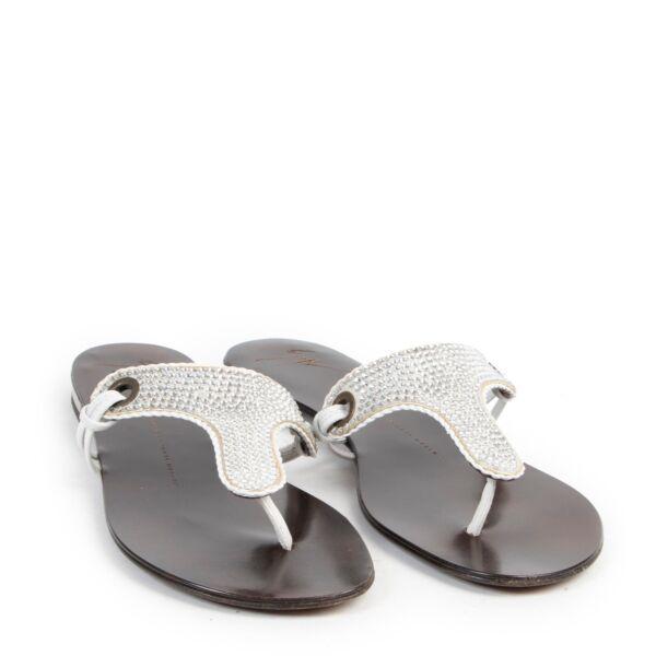 Guiseppe Zanotti Glitter Sandals - size 38