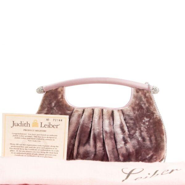 Judith Leiber Velvet Crossbody Clutch