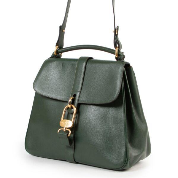 Delvaux Green Gin Fizz Shoulder Bag