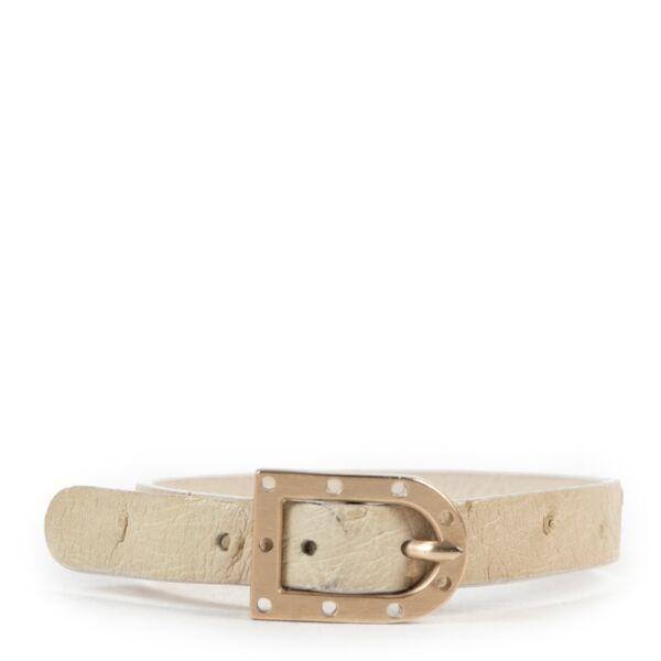 Delvaux Cream Leather D Bracelet