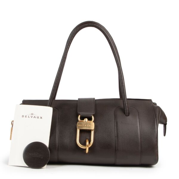 Delvaux Brown Leather Shoulderbag