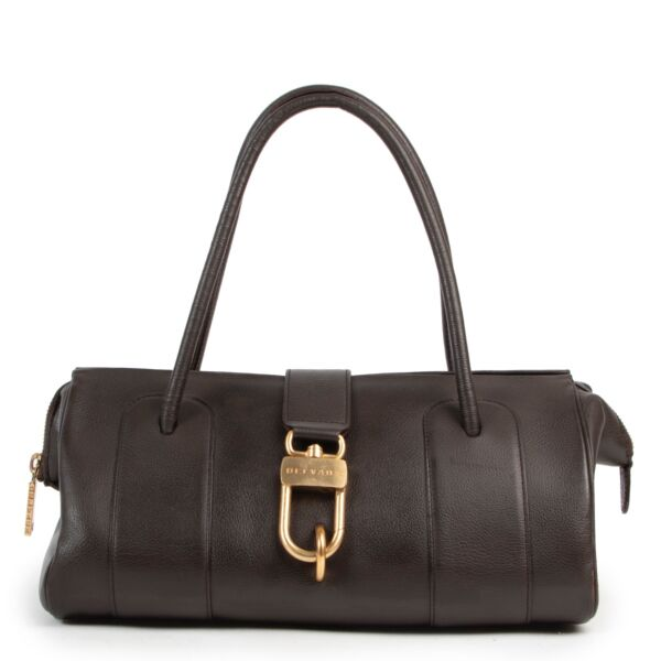 Shop safe online authentic Delvaux Brown Leather Shoulderbag at the right price.