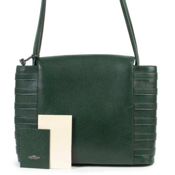 Delvaux Green Leather Shoulder Bag