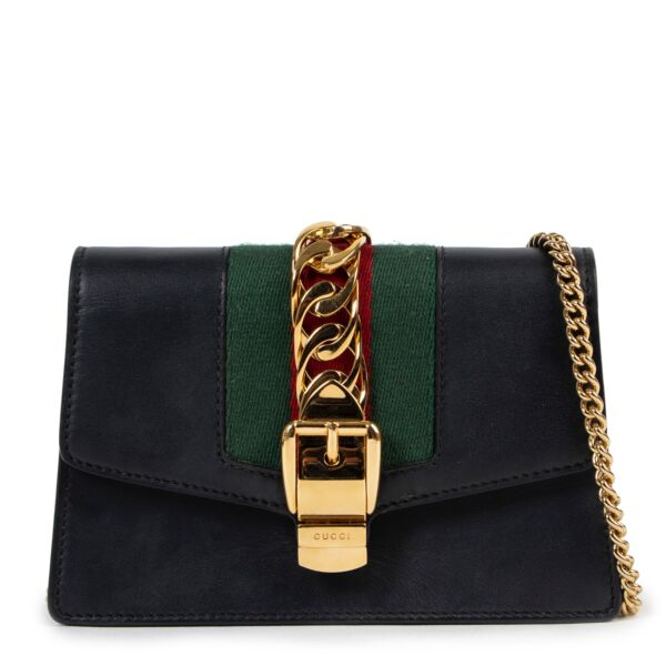 Sylvie Blue Leather Mini Crossbody Bag