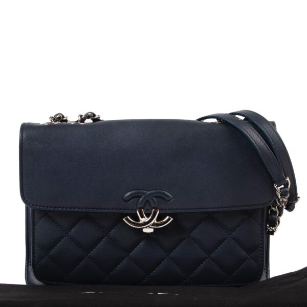 Chanel Dark Blue Mini Urban Companion Flap Bag