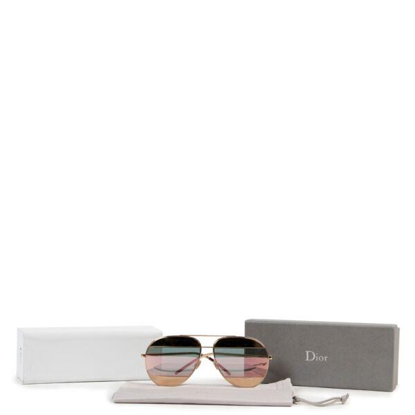Dior Gold Split Two-Tone Metallic Rosegold Aviators