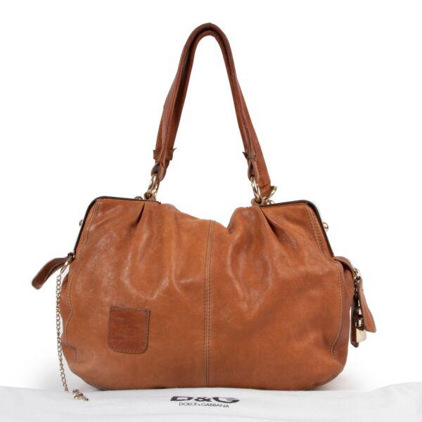 Dolce & Gabbana Camel Leather Shoulder Bag