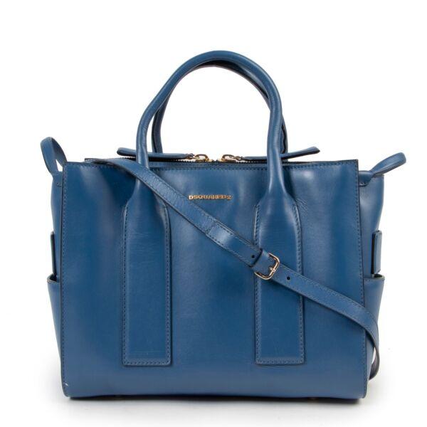 Dsquared2 Blue Leather Shoulderbag