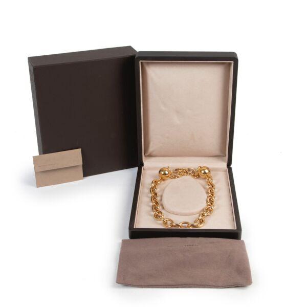 Bottega Veneta 18k Gold Plated Silver Chain Necklace