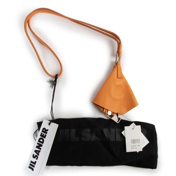 Jill Sander Orange Leather Keychain