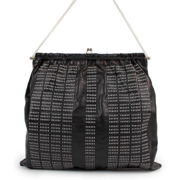Miu Miu Black & White Stitched Purse Bag