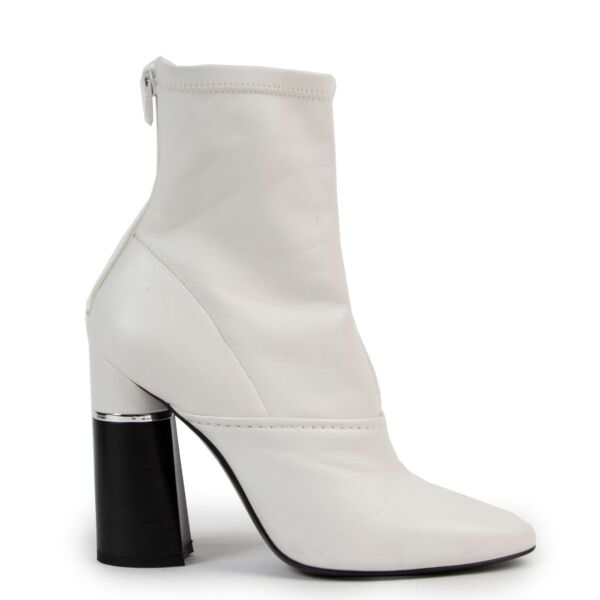 Philip Lim White Sock Booties - size 37.5