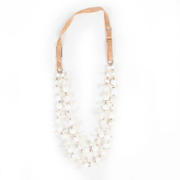 Prada White Pearl Necklace