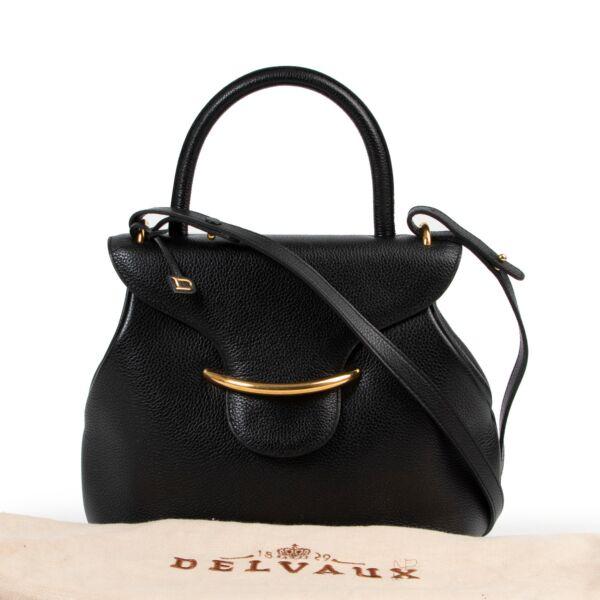 Delvaux Black Top Handle Bag