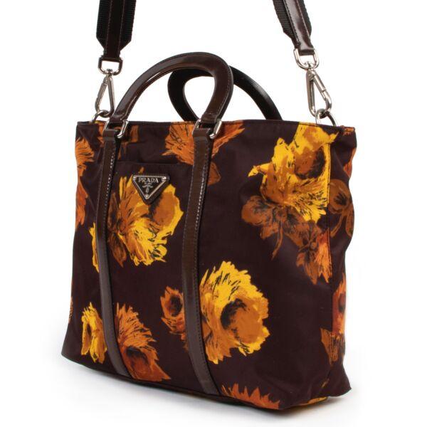 Prada Floral Print Crossbody Bag