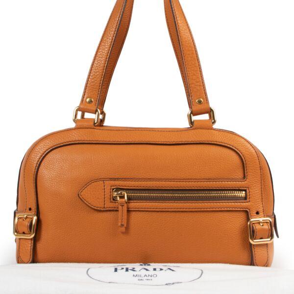 Prada Burnt Orange Boston Bag