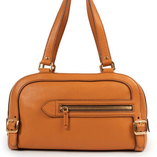 Prada Burnt Orange Boston Bag for the best price at Labellov secondhand designer bags