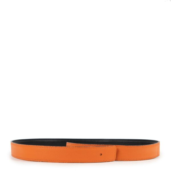Buy in very good condition a Hermés Constance Orange And Black Belt