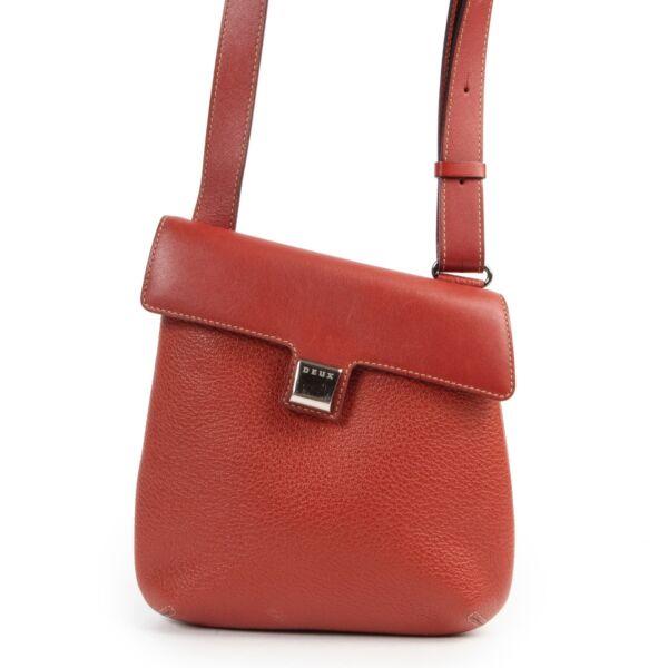 Shop safe online authentic second hand Delvaux Deux Red Leather Crossbody Bag. Buy online Delvaux Deux Red Leather Crossbody Bag in a safe way. Shop Delvaux Deux Red Leather Crossbody Bag online safely.