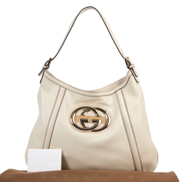 Gucci Cream Britt Hobo Shoulder Bag