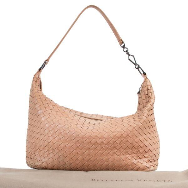 Bottega Veneta Nude Leather Shoulder Bag