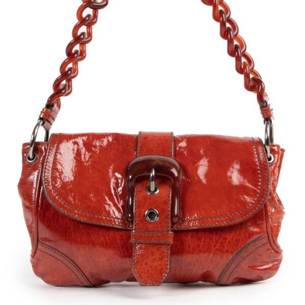 Miu Miu Red Patent Leather Shoulder Bag