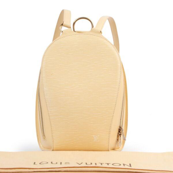 Louis Vuitton Yellow Epi Leather Mabillon Backpack Bag