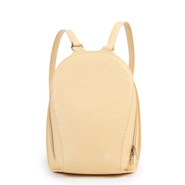 Safely purchase a used one Louis Vuitton Yellow Leather Mabillon Backpack Bag. Buy online in a reliable way a Louis Vuitton Yellow Leather Mabillon Backpack Bag. Buy in a safe site and easy way a Louis Vuitton Yellow Leather Mabillon Backpack Bag.