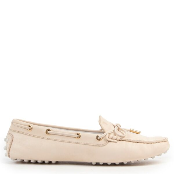 Buy in very good condition a Tods Beige Loafers Sneakers-Size 38