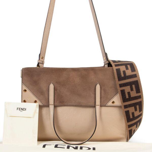 Fendi Beige Flip Shoulder Bag
