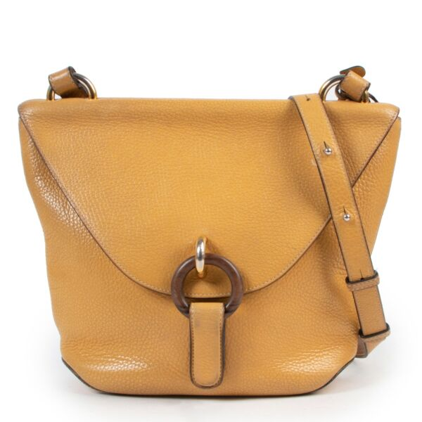 Delvaux Yellow Leather Crossbody