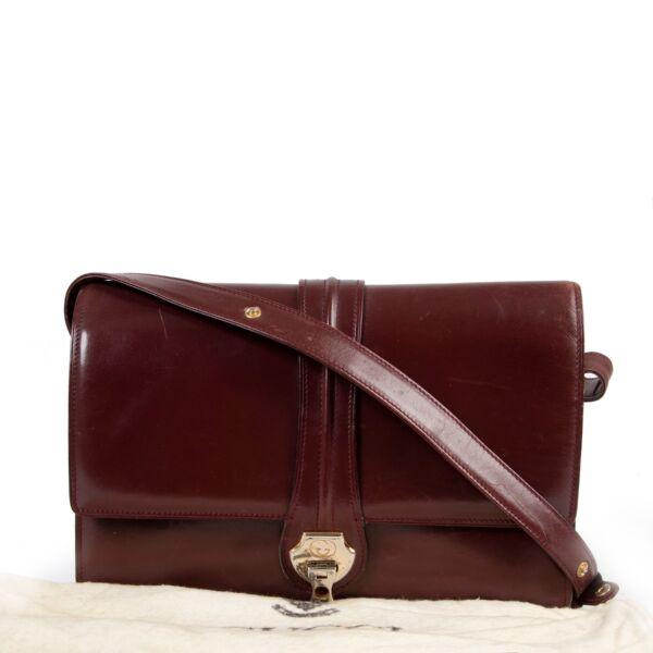 Gucci Burgundy Leather Crossbody