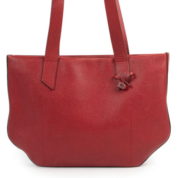 Delvaux Red Shoulder Bag