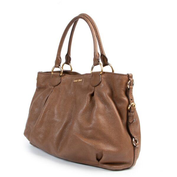 Miu Miu Brown Top Handle Bag