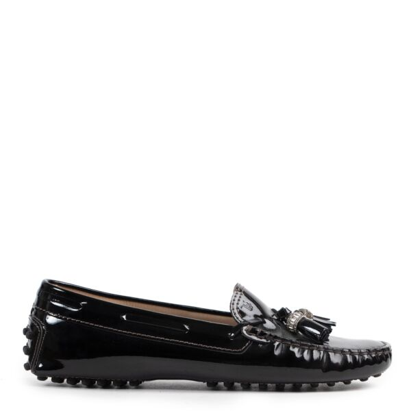 Tod's Black Patent Loafers - Size 37
