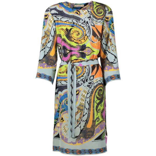 Etro Multicolor Printed Silk Dress - size IT46 for the best price at Labellov