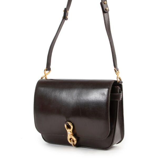 Delvaux Dark Brown Vintage Shoulder Bag